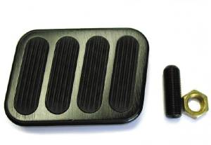 Brake Pedal -Bigfoot With Rubber Inserts, Black Anodized. Midnight Series Photo Main
