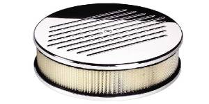 Air Cleaner, Billet -10 inch Round Ball Milled Photo Main