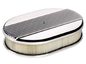 Air Cleaner, Billet -Small Oval Ribbed Photo Main