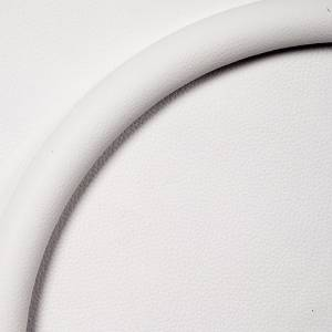 "Steering Wheel Half Wrap For Billet Wheel -14"" White Leather Photo Main"