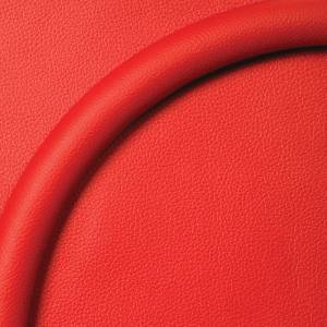 "Steering Wheel Half Wrap For Billet Wheel -14"" Red Leather Photo Main"