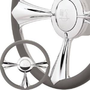 "Billet Steering Wheel, Half Wrap -14"" Profile Collection - Stiletto 3-D Photo Main"