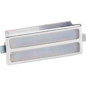 Interior Light -Rectangular. White Lens And Polished Billet Housing (Billet Specialties) Photo Main