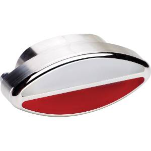 Interior Light -Elliptical. White & Red Lens And Polished Billet Housing (Billet Specialties) Photo Main
