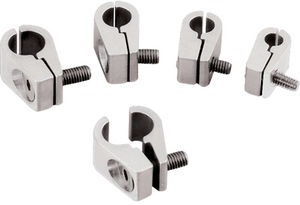"Line Clamps -1/4"" Single -Billet -4 pack Photo Main"