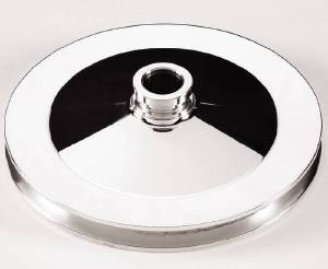 Power Steering Pulley, Billet Aluminum - Chevy SB, Single Groove, Press On Photo Main