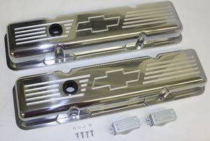 Valve Covers Billet  Chevy SB, Bowtie - Short Photo Main