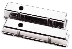Valve Covers Billet. Chevy Sb, Smooth - Short Photo Main