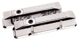 Valve Covers Billet . Chevy Sb, Ribbed - Tall Photo Main