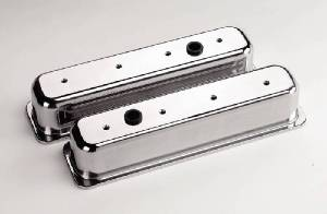 Valve Covers Billet . Chevy Sb, Center Bolt - Smooth - Tall Photo Main
