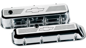 Valve Covers, Chevy Big Block, Polished W/ Bowtie - Tall Photo Main