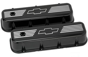 Valve Covers, Chevy Big Block, Black Billet W/ Bowtie - Tall Photo Main
