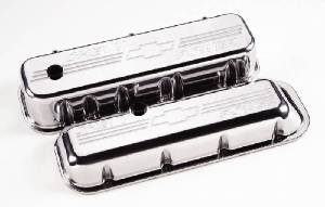 "Valve Covers, Chevy Big Block - Polished Billet ""Chevy Power""  - Tall Photo Main"