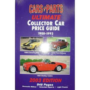 Book - Collector Car Price Guide. From Concours To Parts Car (2003 Edition) Photo Main