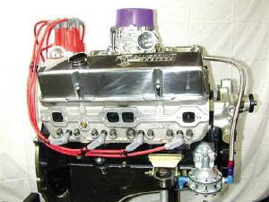 Crate Engine, GM - 355ci (Chevy Small Block) With Aluminum Heads - 360hp With Carb & Ignition Photo Main