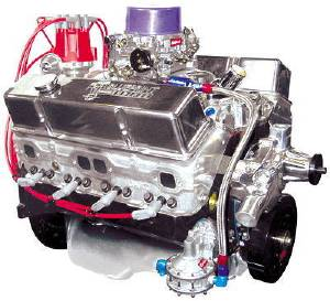 Crate Engine, GM - 355ci (Chevy Small Block) With Aluminum Heads & Forged Components - 385hp With Carb & Ignition Photo Main