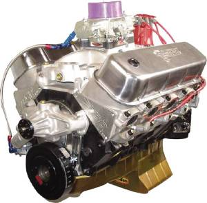 Crate Engine, GM Big Block - 496ci Forged Internals With Aluminum Heads - 595hp With Carb & Ignition Photo Main