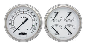 Instrument Gauges- Classic White With Black Pointer 12v Photo Main