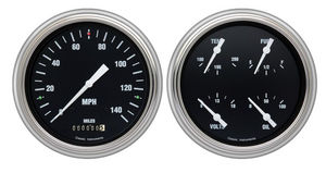 Instrument Gauges- Hot Rod Series With White Pointer Direct Fit 12v Photo Main
