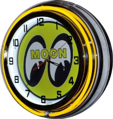 Clock Yellow Neon Moon Eyes Photo Main