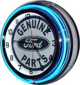 Clock Blue Neon Genuine Ford Parts Photo Main
