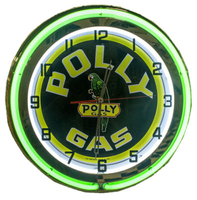Clock Green Neon Polly Gas Photo Main