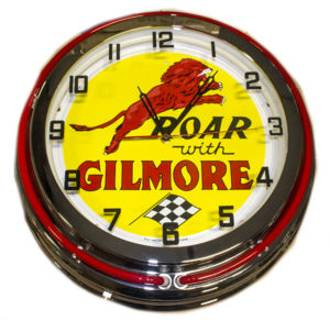 Clock Red Neon Gilmore Gas Photo Main