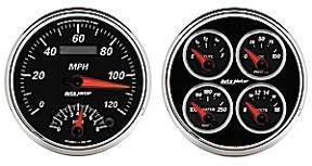 "Instrument Gauges - Auto Meter Designer Black Ii Series, 5"" Speedo Tach Combo & Quad Gauge Set Photo Main"