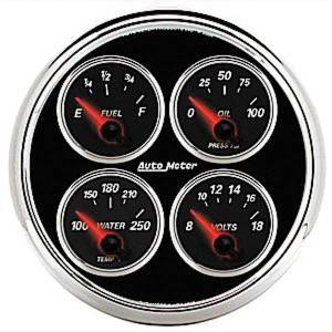 "Instrument Gauges - Auto Meter Designer Black Ii Series, 5"" Quad Gauge Photo Main"