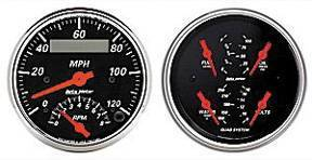 "Instrument Gauges - Auto Meter Designer Black Series, 3-3/8"" Speedo Tach Combo & Quad Gauge Set Photo Main"