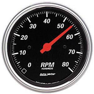 "Instrument Gauges - Auto Meter Designer Black Series, 3-3/8"" Tach Photo Main"