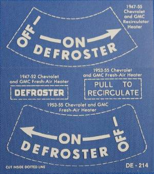 "Heater / Defroster Decal - ""On-Off"" (On Heater) Photo Main"