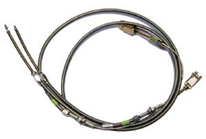 Emergency Brake Cable Kit, Stainless Steel Housing Photo Main