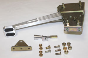 Emergency Brake (Billet Aluminum Foot Operated) With Rubber Insert In Pedal, Brushed Finish Photo Main