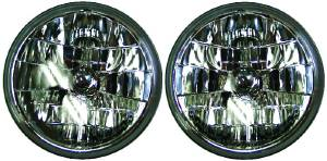 "Headlight, Snake Eye Halogen Sealed Beam Lamps 12v 7"" Photo Main"