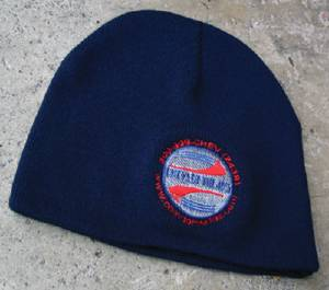 Stocking Cap, Chevs Beanie - 8 inch Navy With Chevs Embroidered Logo Photo Main