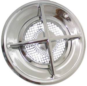 "Hub Caps, Crossbar Style 15"" - Set Of 4 Chrome And Stainless Steel Photo Main"
