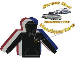 Hoodie. Street Rod Headquarters Logo (L & Xl) Assorted Colors Photo Main