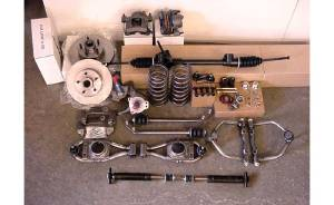 Front Suspension Components Package. Mustang II/ Pinto With Tubular Polished, Stainless A-Arms For 1937-48 Chevy Car & 37-54 Chevy Truck Photo Main