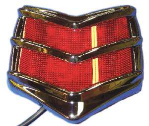 "Tail Light, Led -""Chevron"" (40 Ford) - Rear Mount 12 Volt Photo Main"