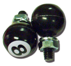 8 Ball License Plate Fastener Photo Main