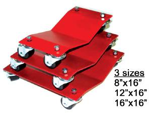 Wheel Dolly, Autodollys - Standard (1,500 Lbs. Per Dolly) Or Heavy Duty (2,500 Lbs. Per Dolly). 3 Sizes Photo Main