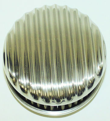 Finned Aluminum Air Cleaner, Short. Polished For Rochester 2-G Carbs Photo Main