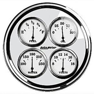 "Instrument Gauges - Auto Meter Old Tyme White Ii Series, 5"" Quad Gauge Photo Main"
