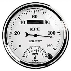 "Instrument Gauges - Auto Meter Old Tyme White Ii Series, 5"" Speedo Tach Combo Photo Main"