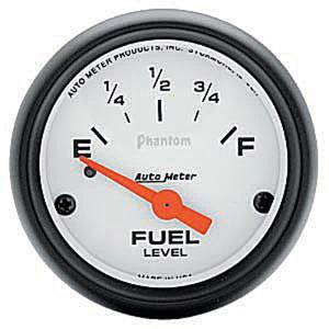 "Instrument Gauges - Auto Meter Phantom Series 2-1/16"" Fuel Level Gauge. Electric Gm 0-30 Ohm., Short Sweep Photo Main"