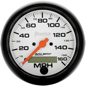 "Instrument Gauges - Auto Meter Phantom Series 3-3/8"" 0-160 Mph Electronic/ Programmable Speedometer Photo Main"