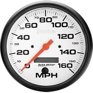 "Instrument Gauges - Auto Meter Phantom Series 5"" 0-160 Mph Electronic/ Programmable Speedometer Photo Main"