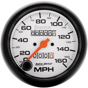 "Instrument Gauges - Auto Meter Phantom Series 3-3/8"" 0-160 Mph Mechanical Speedometer Photo Main"
