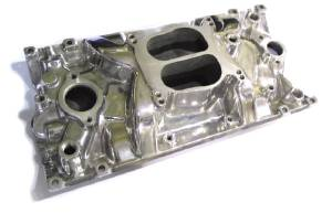 Intake Manifold -Polished Cyclone, Chevy Small Block Vortec Heads (Non Egr) Photo Main